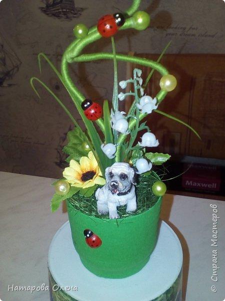 Добрый день,Мастера! Небольшой топик сотворила для подруги на День рождения. Хоть день рождения и в феврале, зато теперь у нее будет свое солнышко - подсолнух  : )  фото 3