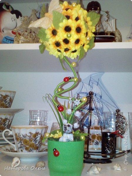 Добрый день,Мастера! Небольшой топик сотворила для подруги на День рождения. Хоть день рождения и в феврале, зато теперь у нее будет свое солнышко - подсолнух  : )  фото 4