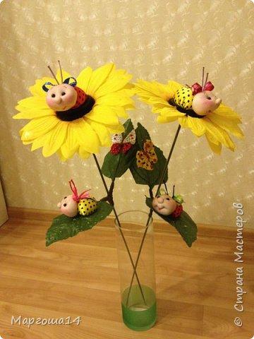 """Продолжила мастерить подарки на тему """"букашки""""))) Сшила маленьких бабочек,которыми можно украсить и кукол,и цветы и сделать магниты. Пришлось немного помаяться с этими малявками))) Вот такое букашечное семейство получилось. Большие бабочки с маленькими . фото 12"""
