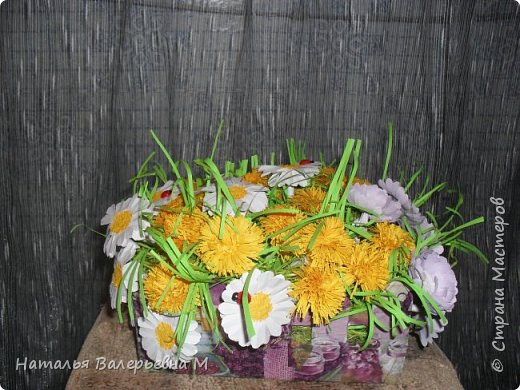 Корзиночка с цветами в садик фото 3