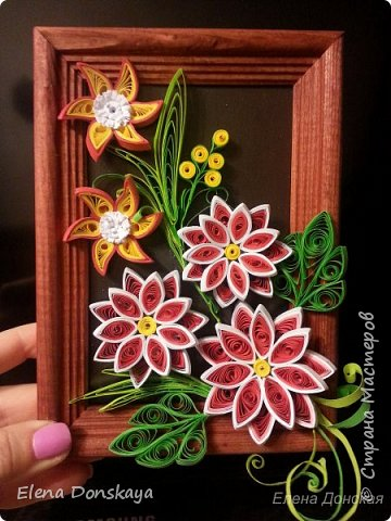 Одиночный цветок... Панно... Вдохновение... фото 3