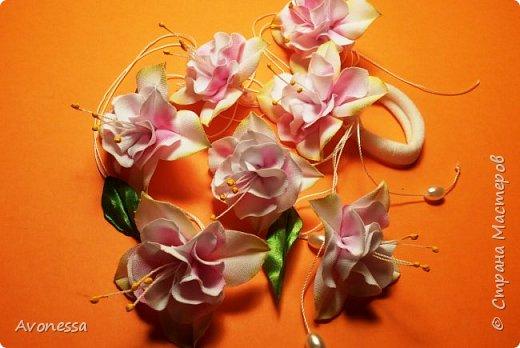 Нежная розовая фуксия из ткани: МК