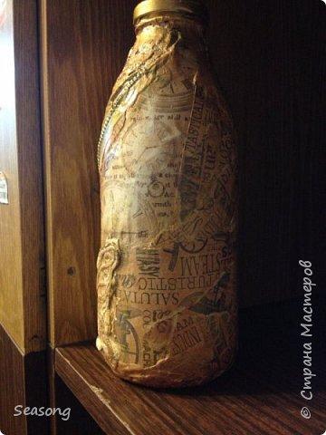 Новые баночки бутылочки (декупаж-винтаж_декопатч) и шкатулочка (папье-маше) фото 6