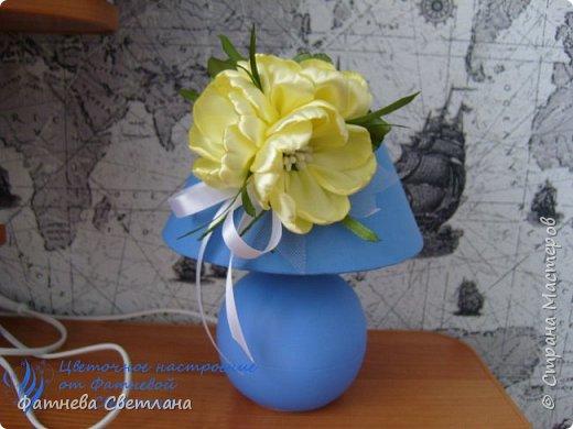Вот так я украсила плафон своей настольной лампы)))) фото 1