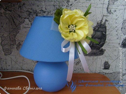 Вот так я украсила плафон своей настольной лампы)))) фото 2