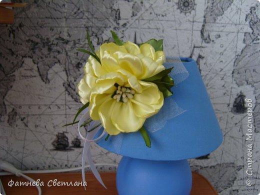 Вот так я украсила плафон своей настольной лампы)))) фото 3