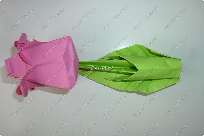Такие бутоны роз на подставочке (или в вазоне)   мы сделали с ребятами мамам на 8 Марта:  фото 23