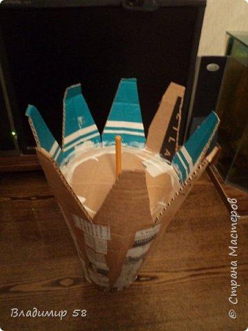 Настольная ваза из картона фото 5