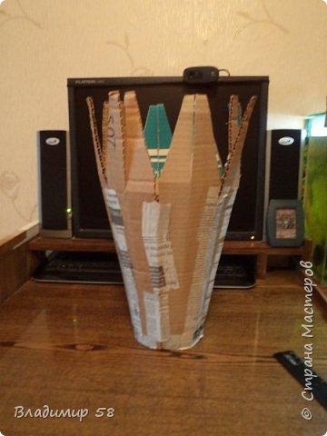 Настольная ваза из картона фото 6