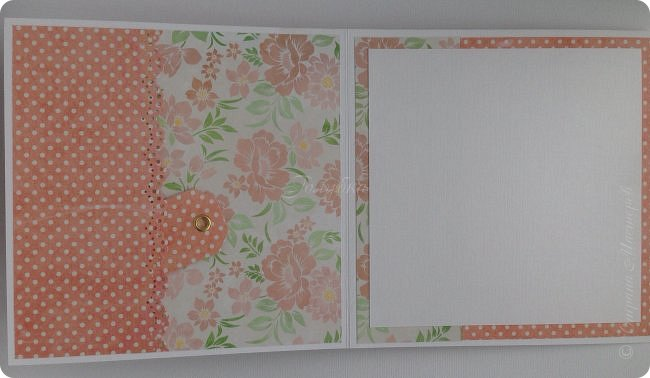 """Показываю несколько открыток. Вообще их было больше, но по соглашению не могу их выставить в сеть. Бумага от производителя galeria papieru и """"горохи"""" от СкрапМир , на мой взгляд, подружились в этой открытке. Ромашки покрасила  водорастворимым спреем Color Bloom от Prima Marketing. Лифтинг открытки мастерицы wioletta-jc фото 2"""