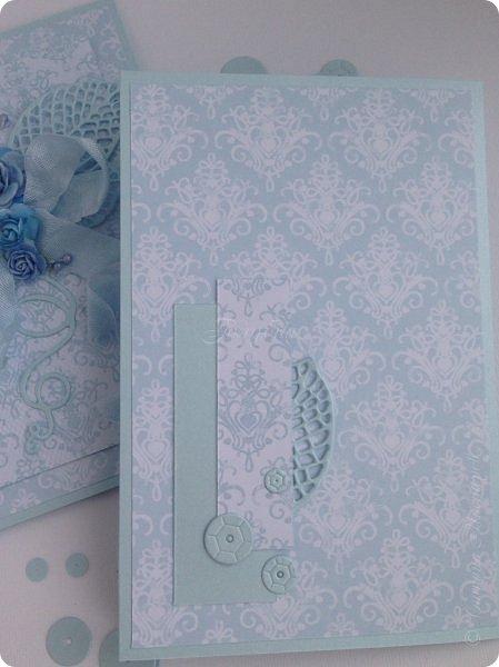 """Показываю несколько открыток. Вообще их было больше, но по соглашению не могу их выставить в сеть. Бумага от производителя galeria papieru и """"горохи"""" от СкрапМир , на мой взгляд, подружились в этой открытке. Ромашки покрасила  водорастворимым спреем Color Bloom от Prima Marketing. Лифтинг открытки мастерицы wioletta-jc фото 8"""