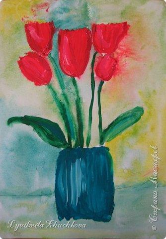 Тюльпаны для мамы  фото 1