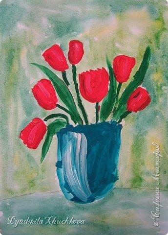 Тюльпаны для мамы  фото 6