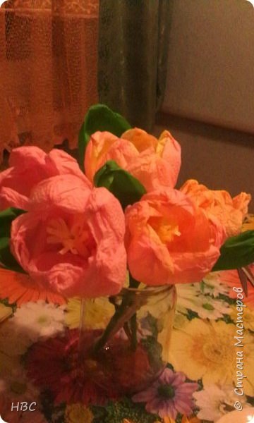 Тюльпаны из салфеток фото 3