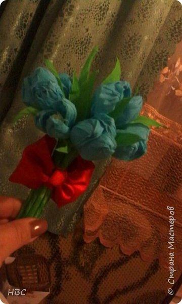 Тюльпаны из салфеток фото 4