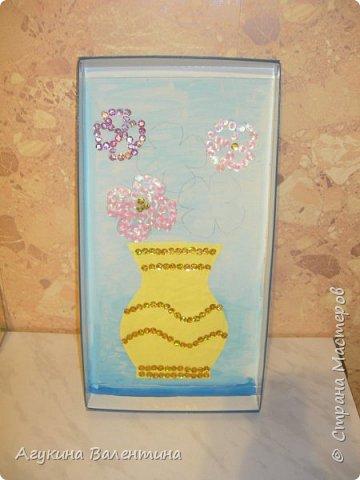Подарки  для  мам  и  бабушек  с  помощью пайеток. фото 5