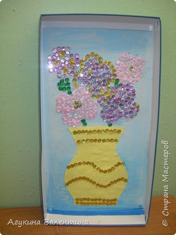 Подарки  для  мам  и  бабушек  с  помощью пайеток. фото 6