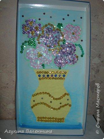 Подарки  для  мам  и  бабушек  с  помощью пайеток. фото 7