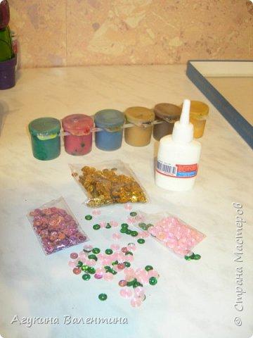 Подарки  для  мам  и  бабушек  с  помощью пайеток. фото 2