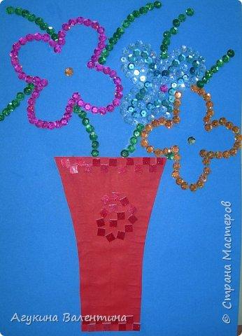 Подарки  для  мам  и  бабушек  с  помощью пайеток. фото 12