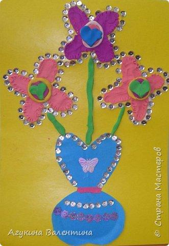 Подарки  для  мам  и  бабушек  с  помощью пайеток. фото 9