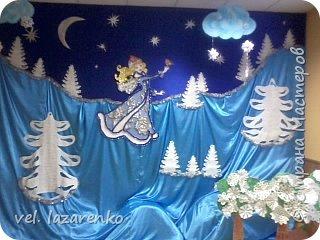 Оформление зала на Новый год в детском саду фото 1