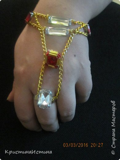 браслеты красно-золотой и черный класический фото 2