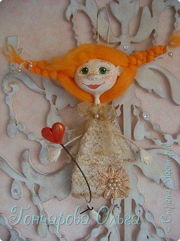 """Ласковое, нежное создание, которое любит солнышко! Ангелочек """"Ангелинка"""" Озорная, веселая девчушка. Добрый, ласковый рыжик, конопушечка, приносящее счастье.  фото 4"""