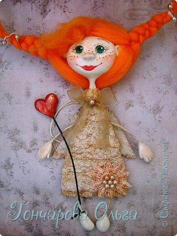 """Ласковое, нежное создание, которое любит солнышко! Ангелочек """"Ангелинка"""" Озорная, веселая девчушка. Добрый, ласковый рыжик, конопушечка, приносящее счастье.  фото 1"""