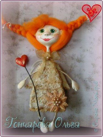 """Ласковое, нежное создание, которое любит солнышко! Ангелочек """"Ангелинка"""" Озорная, веселая девчушка. Добрый, ласковый рыжик, конопушечка, приносящее счастье.  фото 3"""