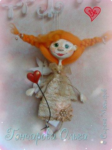 """Ласковое, нежное создание, которое любит солнышко! Ангелочек """"Ангелинка"""" Озорная, веселая девчушка. Добрый, ласковый рыжик, конопушечка, приносящее счастье.  фото 2"""