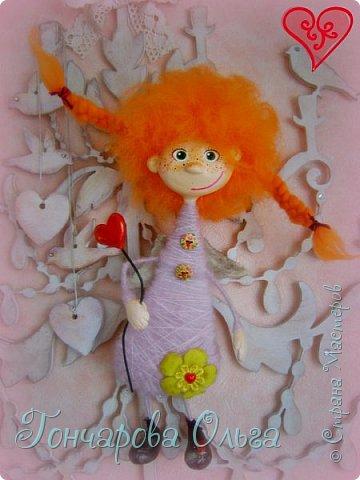 """Ласковое, нежное создание, которое любит солнышко! Ангелочек """"Ангелинка"""" Озорная, веселая девчушка. Добрый, ласковый рыжик, конопушечка, приносящее счастье.  фото 6"""