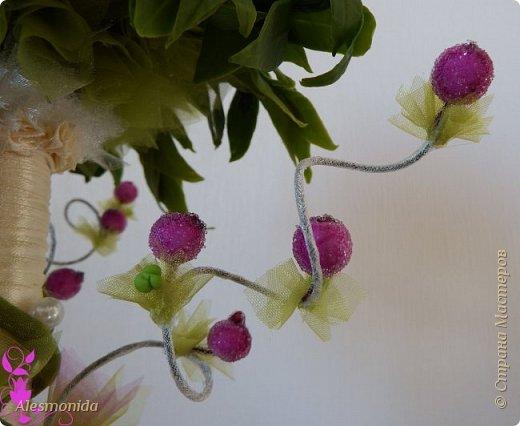 Всем добрый вечер! Наконец-то завершила свой букет цветов! Я продолжаю знакомиться с таким прекрасным материалом, как фоамиран...он меня покорил, ВСЁ!!!.... хочется делать и делать....и вот наделала такой букетик цветов))) фото 5
