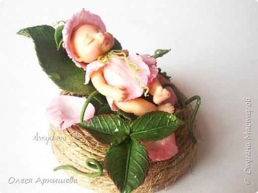 младенец из полимерной глины. фото 1