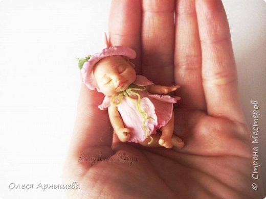 младенец из полимерной глины. фото 3