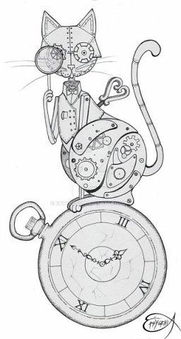 Для основы: картон разной толщины и размера, часовой механизм, клей, краска Для оформления: шурупы, проволока, горох половинками, изолента, распечатка шестеренок и т.п.   Для светящихся глазок: светодиоды, проводочки, батарейки и мужчина, который сможет все это соеденить)) фото 22