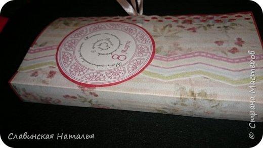 На 8 марта воспитателям в подарок внутри потайной кармашек для сертификата по 2пакетика чая в каждом кармашке и шоколад фото 10