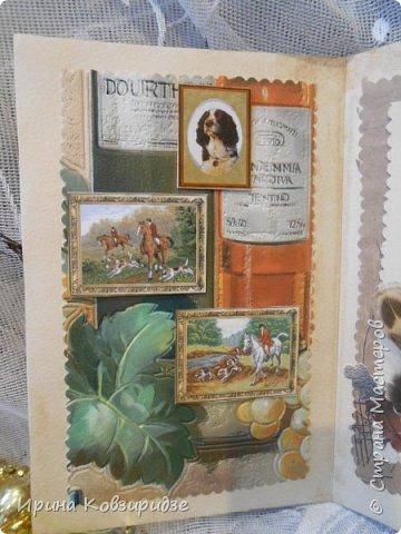 Сделала 4 открытки из остатков срапбумаги, остатков красивых обоев (бумага есть бумага), наклеек, кружев и перьев, и т.д. фото 16