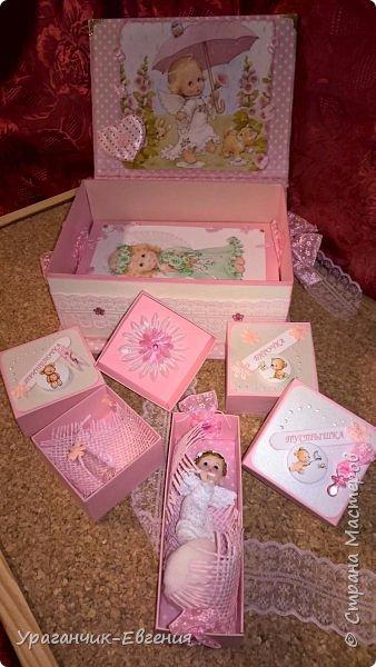 Попросили сделать мамины сокровища для дочки батюшки и что бы с ангелочками:) фото 4