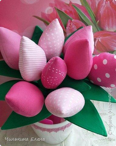 Тюльпаны в стиле Тильда не завянут.  фото 3