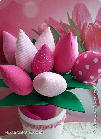 Тюльпаны в стиле Тильда не завянут.  фото 2