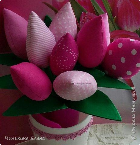 Тюльпаны в стиле Тильда не завянут.  фото 1