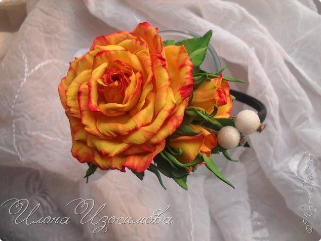Ободок с розами из фома фото 3