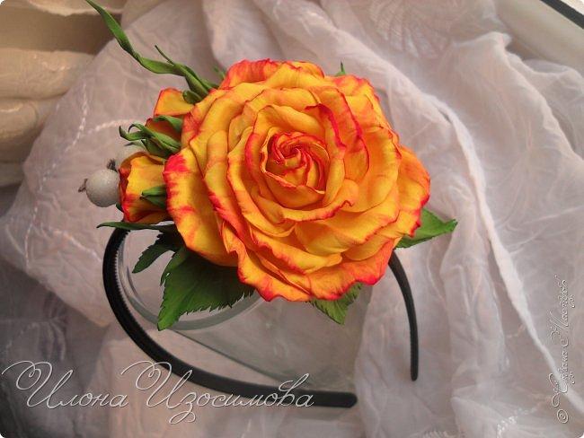 Ободок с розами из фома фото 2