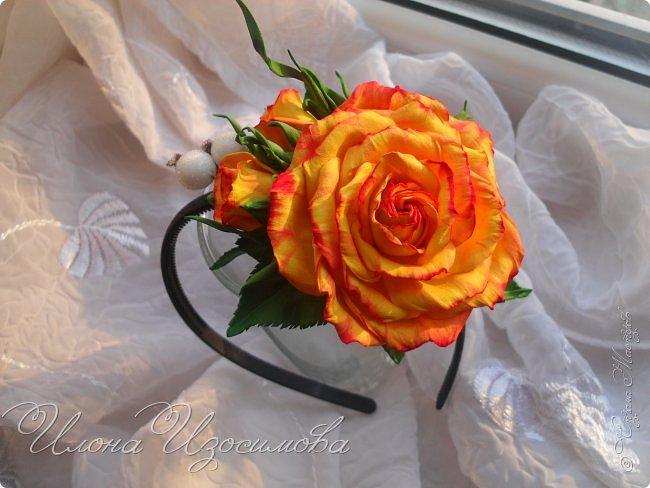 Ободок с розами из фома фото 1