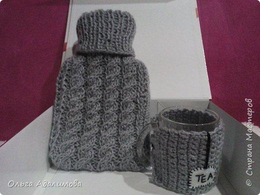 Для холодных зимних вечеров!:) Грелка и кружка в оригинальных чехлах:)  фото 1
