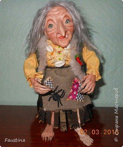 Здравствуйте,дорогие Мастера! Сегодня хочу показать еще одну интерпретацию своей авторской куколки. Это совместная работа с моей очень хорошей знакомой мастерицей Верой Юсуповой,она занимается куколками из капрона. На заказ для нее я изготовила молды (голову,ручки,ножки) бабы Яги. Сборкой и декором занималась уже сама т.Вера))) Что у нас получилось,представляю на Ваш суд! К стати,МК именно по этой бабульке я размещала в своем блоге. Приятного просмотра! фото 4