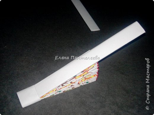 Идею создания такого веера нашла в интернете, но решила упростить задачу материалов, в целях доступности школьникам, на уроке ДПИ. фото 37