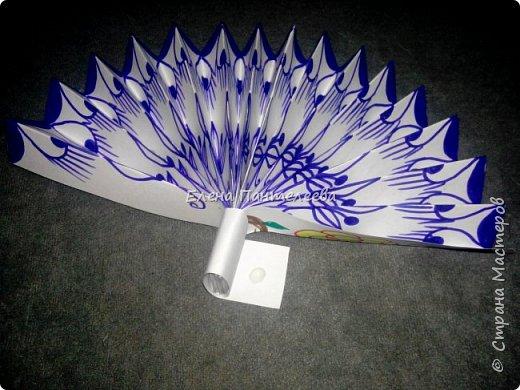 Идею создания такого веера нашла в интернете, но решила упростить задачу материалов, в целях доступности школьникам, на уроке ДПИ. фото 35