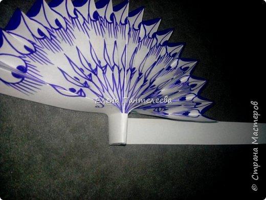 Идею создания такого веера нашла в интернете, но решила упростить задачу материалов, в целях доступности школьникам, на уроке ДПИ. фото 34